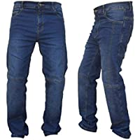 Gentry Choice Men's Motorcycle Riding Jeans Reinforced with Dupont™ Kevlar® Dark Blue Pant