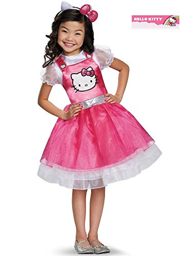 Hello Kitty Pink Deluxe Costume, Small -