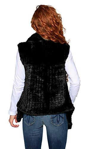 Love Token Ali Faux Fur Vest, Black, M by Love Token (Image #1)