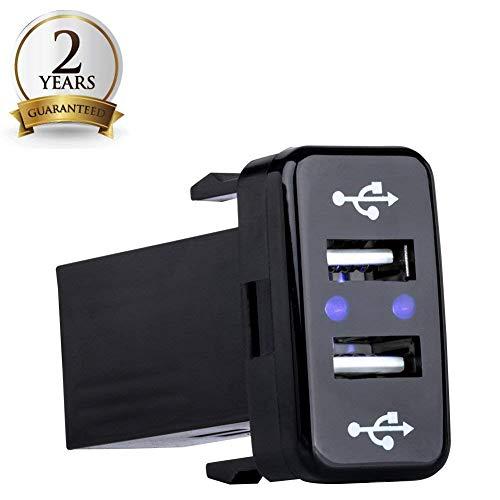 BUNKER INDUST 5V 2.1A Dual USB Power Socket Rapid Car Charger LED Power Outlet USB Socket Port for Toyota Series