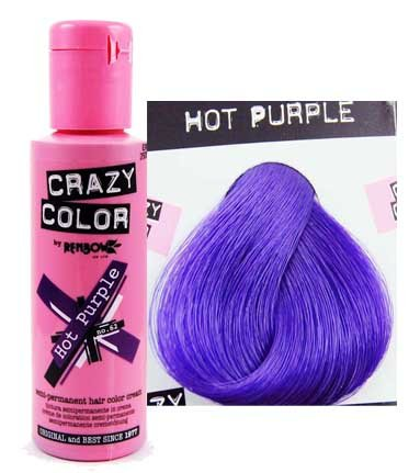 X4 Renbow Crazy Color Conditioning Hair Colour Cream 100ml - Hot Purple by Renbow