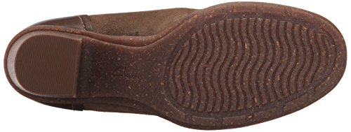 CLARKS Womens Sashlin Sue Ankle Bootie, Olive, 7.5 M US