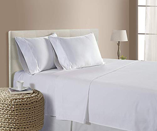King Size Sheets Luxury Soft Heavy Egyptian Cotton Sheet Set for King Size (76x80) Mattress White Color 1800 Thread Count Deep Pocket Fits 14-16 Inches (Pattern : Solid)