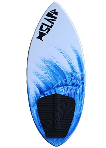 "Slapfish Skimboards - Fiberglass & Carbon with Traction Deck Grip - Kids & Adults - 2 Sizes - Blue (41"" Board)"