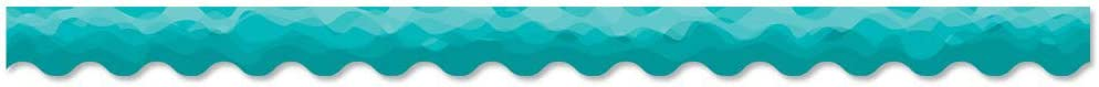 Creative Teaching Press Waves of Teal Decorative Bulletin Board Border/Trimmer (Accent Bulletin Boards, Walls, Classrooms, Learning Spaces and More)