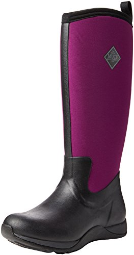 Muck Boot Arctic Adventure Women's Black Phlox Boot Purple 6O6q1BZwr