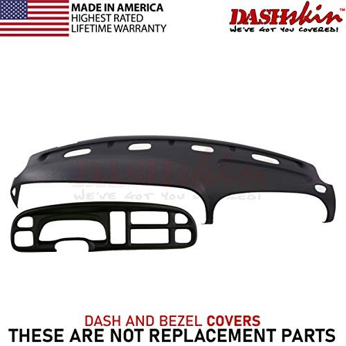 DashSkin Molded Dash & Bezel Cover Kit Compatible with 99-01 Dodge Ram in Black (Speedometer Dodge Ram)