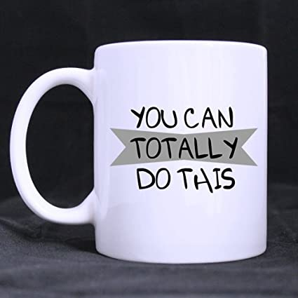 evplkigir new yearchristmas day gifts inspiring saying you can totally do this tea or