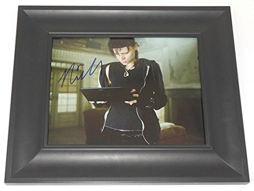 The Girl with the Dragon Tattoo Rooney Mara Signed Autographed 8x10 Glossy Photo Gallery Framed Loa