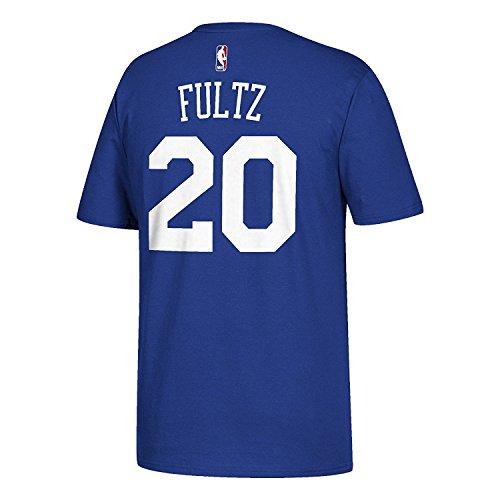 Royal Blue Player T-shirt - Men's Markelle Fultz Philadelphia 76ers NBA adidas Royal Blue Name & Number Player T-Shirt (X-Large)