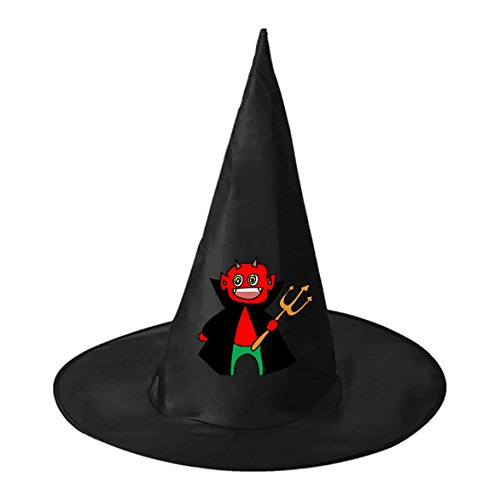 Red Devil Black Witch Hats Costume Halloween Party Carnivals Costume Accessory Cap Toys For Girl And Boy
