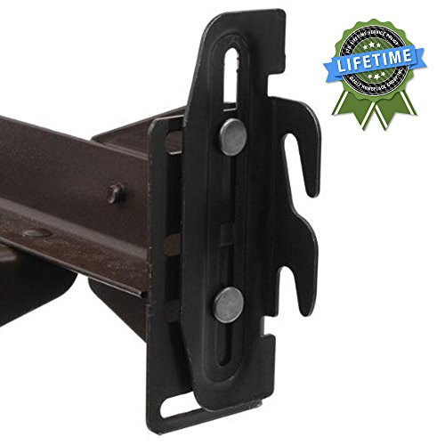 Bed Claw #35 Hook Plate Conversion Adapter Kit for Using a Bolt-On Frame with a Hook-On Headboard- Pack of 4 ()