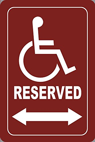 - BuildASign Handicapped Reserved (Maroon) Parking Sign 18