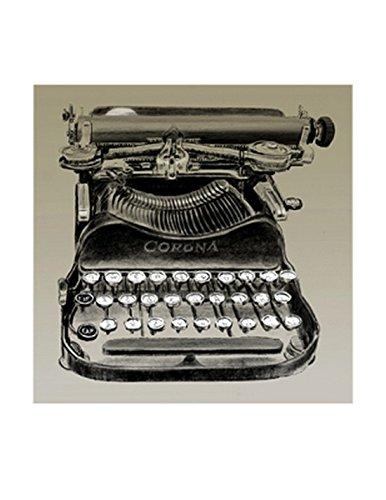 Clifford Faust – Máquina de escribir Vintage Artistica di Stampa (x 27,94 cm