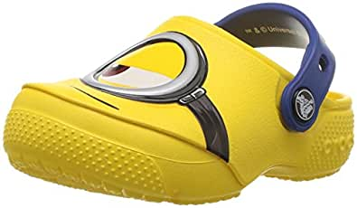 Crocs Unisex Kids Fun Lab Minions Clog, Yellow, J1