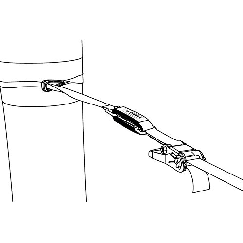 GIBBON Slacklines Slow Release Trickline Equipment, Black