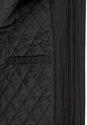 Algodón 9000 Con Forro solid Forster Black Hombre De Invierno Para Chaqueta 100 Capucha Peluche Chaquetón Y67X6U