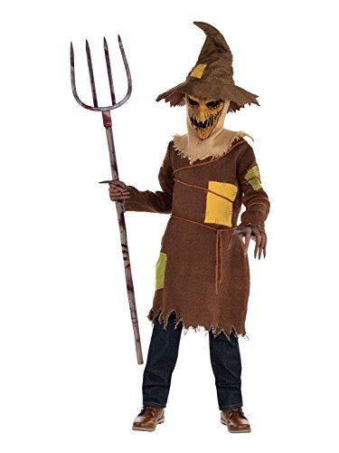 Amscan 847695 Boys Scary Scarecrow Costume, Medium (8-10), -