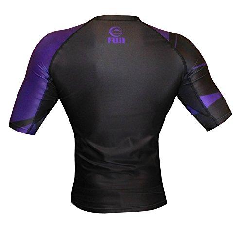 Fuji IBJJF Freestyle Short Sleeve Rash Guard, Purple, Medium