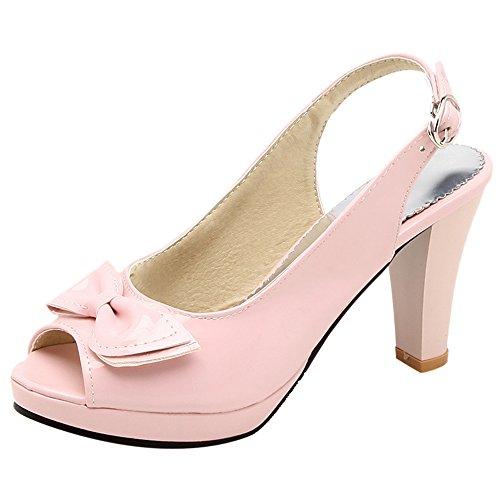 Sandales Toe Soiree JOJONUNU Pink Peep Femmes 1ISgw47q
