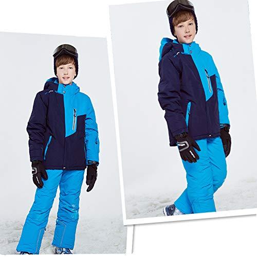 Ski Pants All one in Traspirante Giacca Da Snow 2 Tuta Boy Giow Sci E Pioggia Impermeabile Esterna Isolato Bretelle xZY6q0gnwO