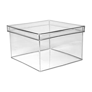 clear plastic boxes design ideas lookers box square large clear 11038
