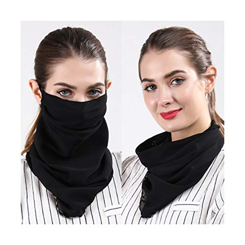 2019 Women Lightweight Summer Shade Masks Silk Scarf Sunscreen Neck Protective Dustproof Anti-UV Breathable Outdoor Spring Travel (EE) (Best Sunscreen For Woman's Face)