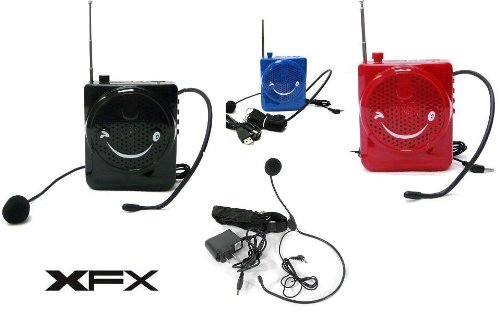 XFX -001 BLACK Portable Waist Band Belt Loud PA System With Microphone USB  Micro SD Input FM Radio Rechareable Battery