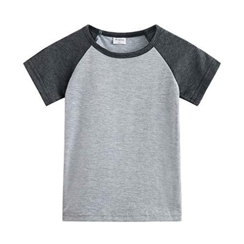 Herbow Toddler Baby Girls Boys Raglan Tees for Short Sleeve Cotton T-Shirt Baseball Jesey