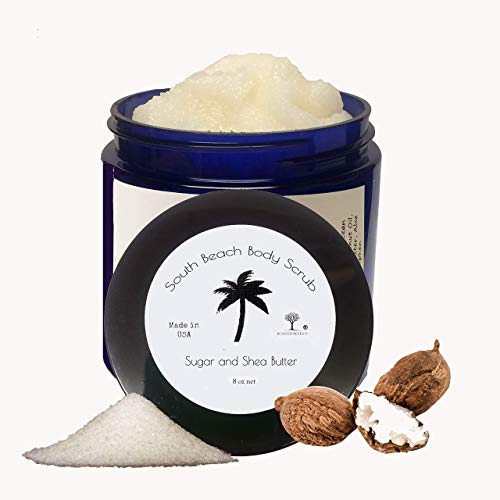 Scented Accents Sugar and Shea Butter South Beach Body Scrub with Organic Coconut Oil Vegan Fresh-Made Blended Sugar Scrub Gentle Lush Facial Scrub, Exfoliating Scrub for Dry Skin