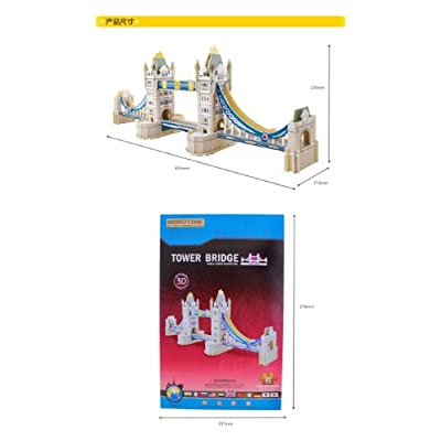 Robo Time JPD656 92 Pieces Tower Bridge Building 3D Puzzels, Multicoloured: Toys & Games