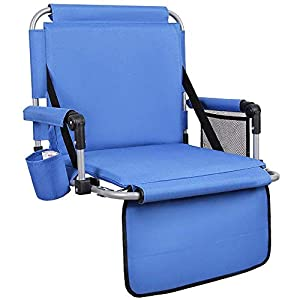 ALPHA CAMP Stadium Seat Padded Chair for Bleachers with Back& Arm Rest by ALPHA CAMP