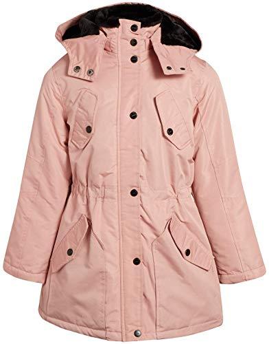 Urban Republic Girls Fur Lined Parka - Heavyweight Durable Jacket with Fur Trim Hood, Pink, Size 14'
