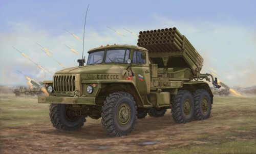 - Trumpeter Russian BM-21 Hail Multiple Rocket Launcher Late Version (1/35 Scale)