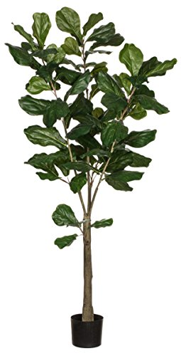 Sullivans 0571POT Decorative Fiddle Leaf Tree Artificial Potted, Plant Green, 5 Feet x 27 - Foliage Tree