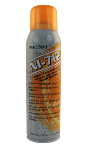 NI-712 Odor Eliminator, Orange Continuous Spray, 9 Cans by NI-712