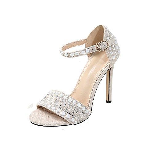 - ❤️ LIBERTY-GIRLS❤️ Women's Sexy Shoes Comfort Womens Strappy Rhinestone Open Toe Low Heel Heeled-Sandals White