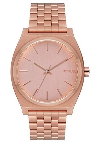 NIXON Time Teller A081 - All Rose Gold - 136M Water Resistant Men's Analog Fashion Watch (37mm Watch Face, 19.5mm-18mm Stainless Steel Band)