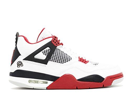 Air Jordan Fire Red 4 Retros Mens Taglia 13 White-varsity Red-black 308497 162