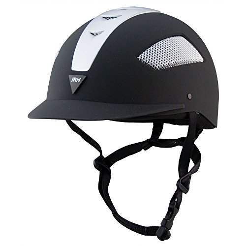 IRH Elite ATH Helmet - Size:6 3/4 Color:Black/Silver ()