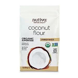 Nutiva Organic Coconut Flour, Unrefined, 16 Ounce (Pack of 6)