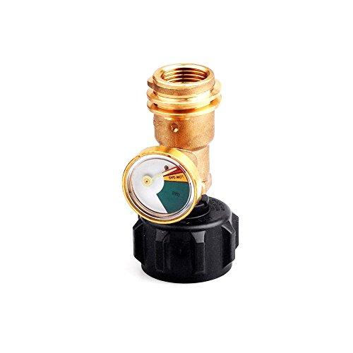 CISNO Propane Tank Gauge Gas Grill BBQ Pressure Meter Indicator Fuel Brass