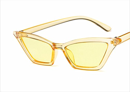 2018 New European and American trend cat eye sunglasses lady retro small frame sunglasses transparent bright sun glasses ( Color : 2 - Sunglasses 2018 Trends