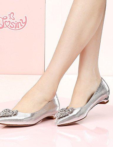 Plano oro us7 Taln Flats de Zapatos Cn38 Piel Plata Pdx Sinttica Ballerina Casual Eu38 Uk5 De 5 Mujer Golden 5 107qW6w