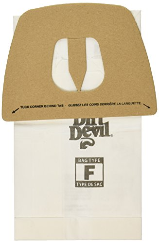 Royal Dirt Devil Paper Bag, Royal Can Vacuum Type F Dirt Devil (Pack of 3) (Replacement Type Devil Dirt)