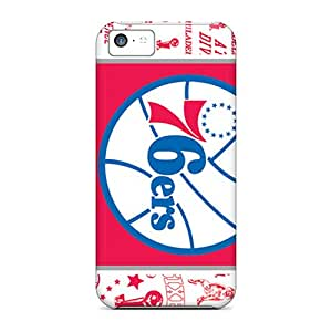 Fashionable GmyaoNj7296GLdQJ Iphone 5c Case Cover For Philadelphia 76ers Protective Case