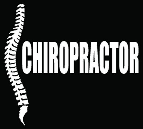 Chiropractor Spine Joints Car Truck Window Bumper Vinyl Graphic Decal Sticker- (20 inch) / (50 cm) Wide MATTE WHITE Color (Graphic Spine)