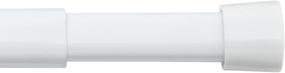 """Bali Blinds Oval Spring Tension Rod, 36-60"""", White - 26-8720-10"""