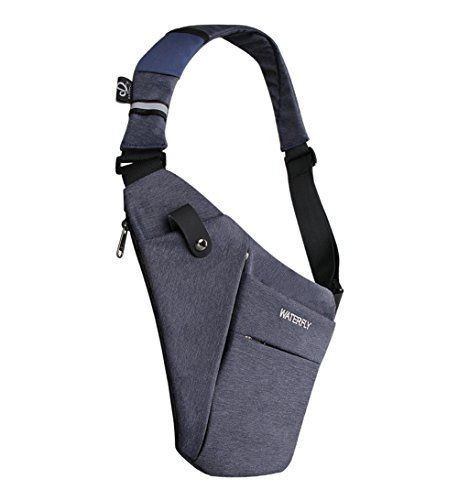 WATERFLY Sling Bag Lightweight Casual Daypack Chest Shoulder Bag for Men Women