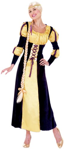 Paper Magic Women's Rapunzel Costume, Blue/Gold, Large ()